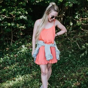 Peach By The Way mini dress